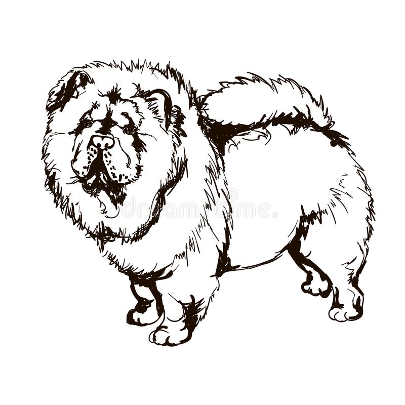 Illustration av hundavelKäk-käk stock illustrationer