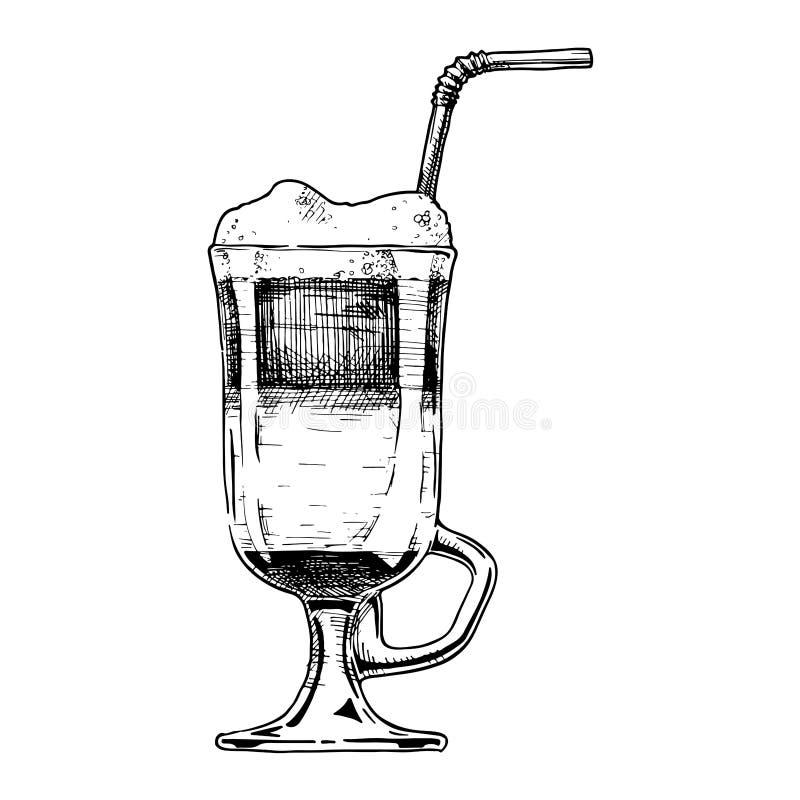 Illustration av irländskt kaffe royaltyfri illustrationer