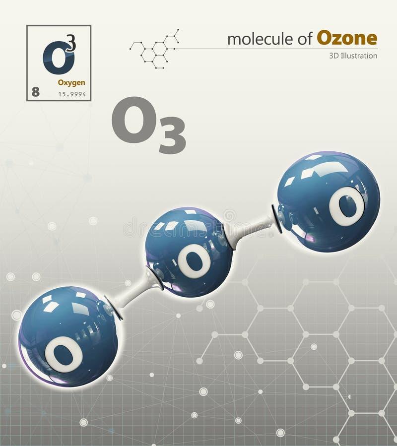 Illustration av isolerad grå bakgrund för syre molekyl stock illustrationer