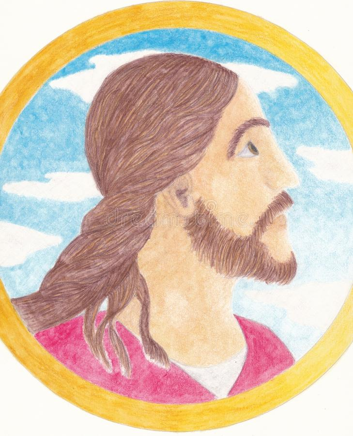 Illustration av Jesus Christ royaltyfria foton