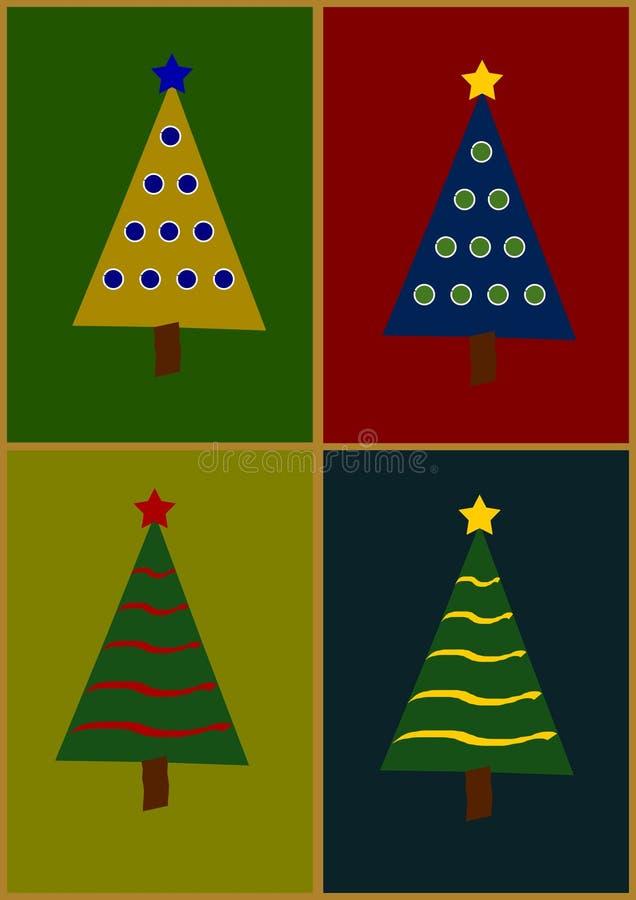 Illustration av julträdet arkivfoton