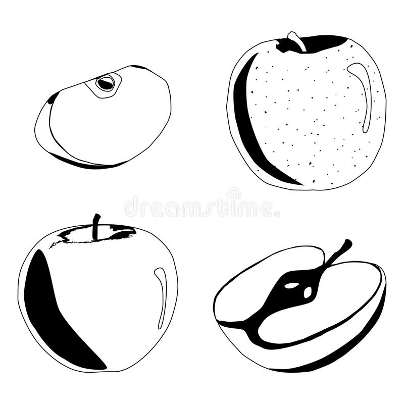 Illustration av logoen för Apple royaltyfri illustrationer
