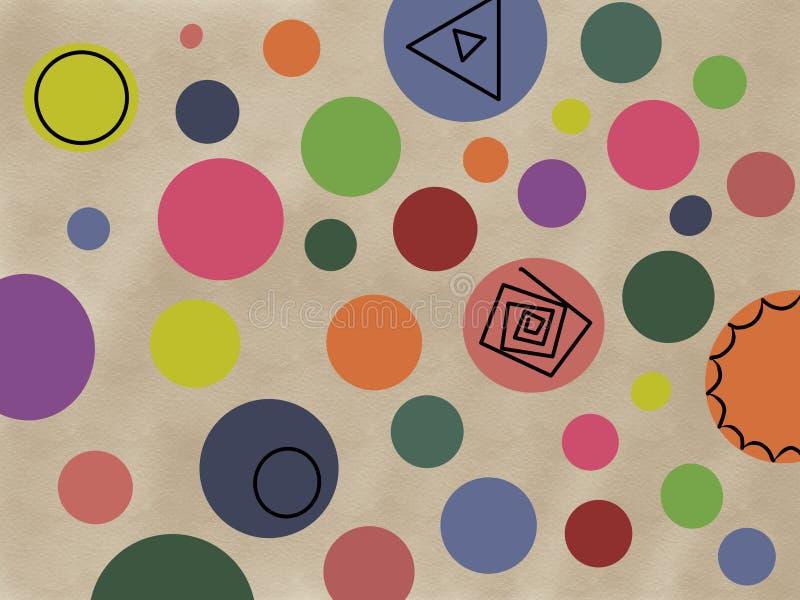 illustration av mångfärgade cirklar, bakgrund royaltyfri illustrationer