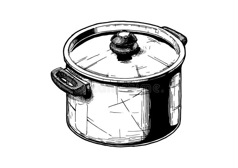 Illustration av materielkrukan stock illustrationer