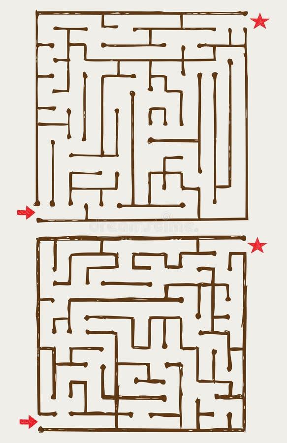 Illustration av maze stock illustrationer