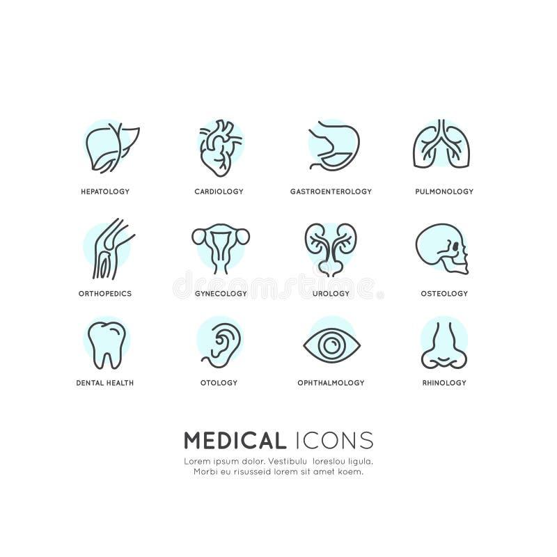 Illustration av medicinska hälsovård royaltyfri illustrationer