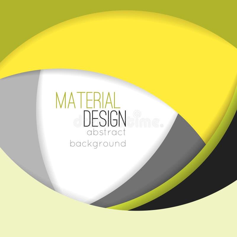 Illustration av ovanlig modern materiell designvektorbakgrund stock illustrationer