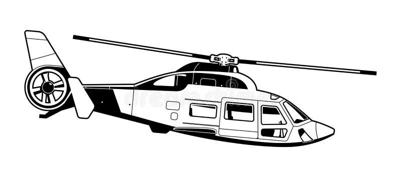 Illustration av passagerarehelikoptern vektor illustrationer