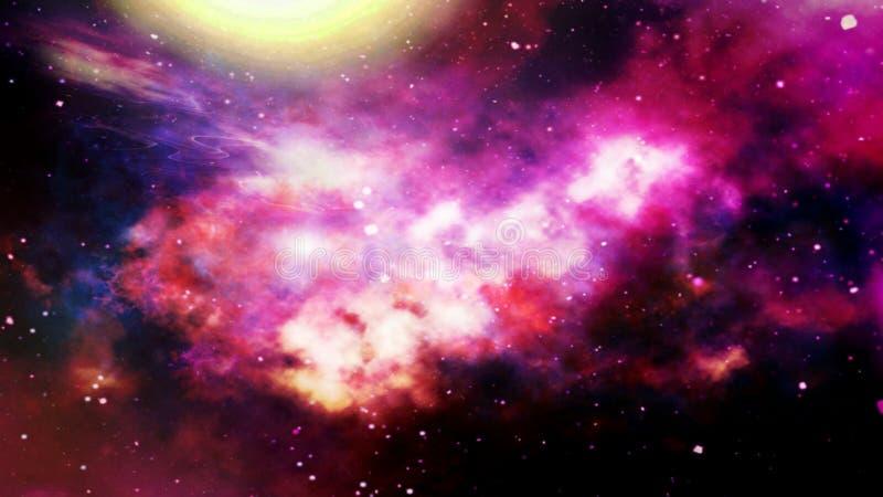 illustration av planeter och galaxen, sciencetapet _ arkivbild