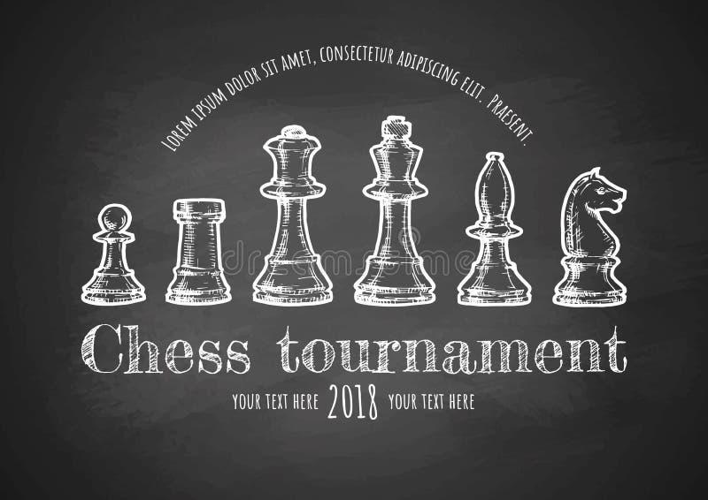 Illustration av schack royaltyfri illustrationer