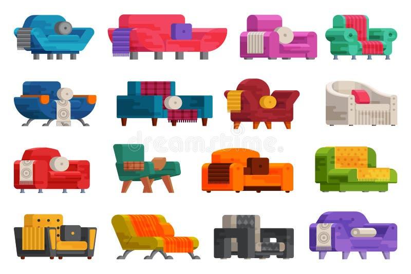 Illustration av soffauppsättningen fotografering för bildbyråer