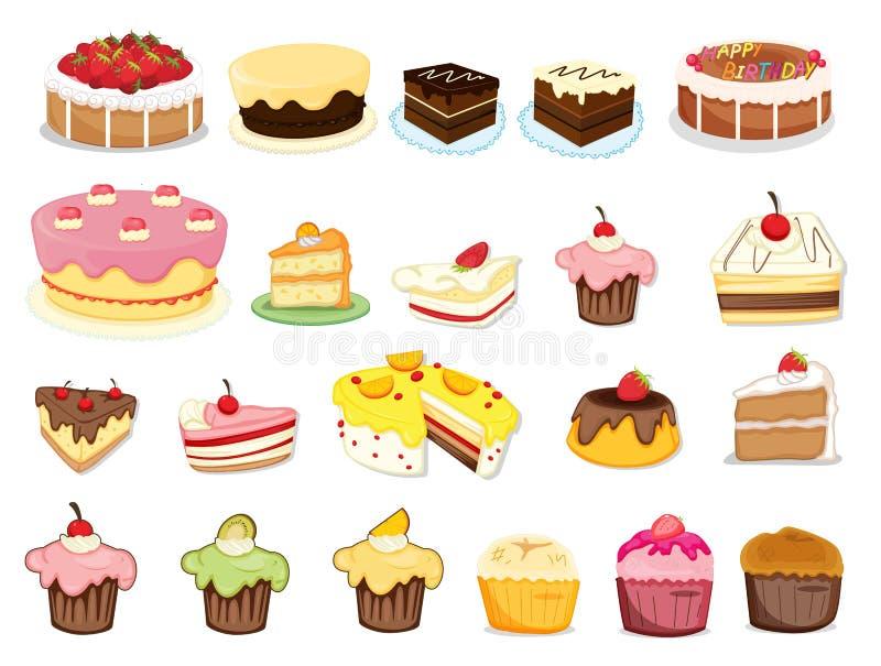 Tårtasamling vektor illustrationer