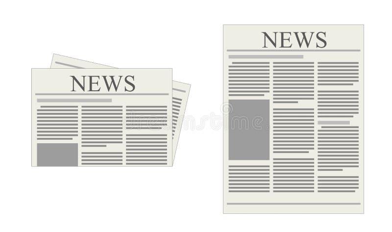 Tidning stock illustrationer