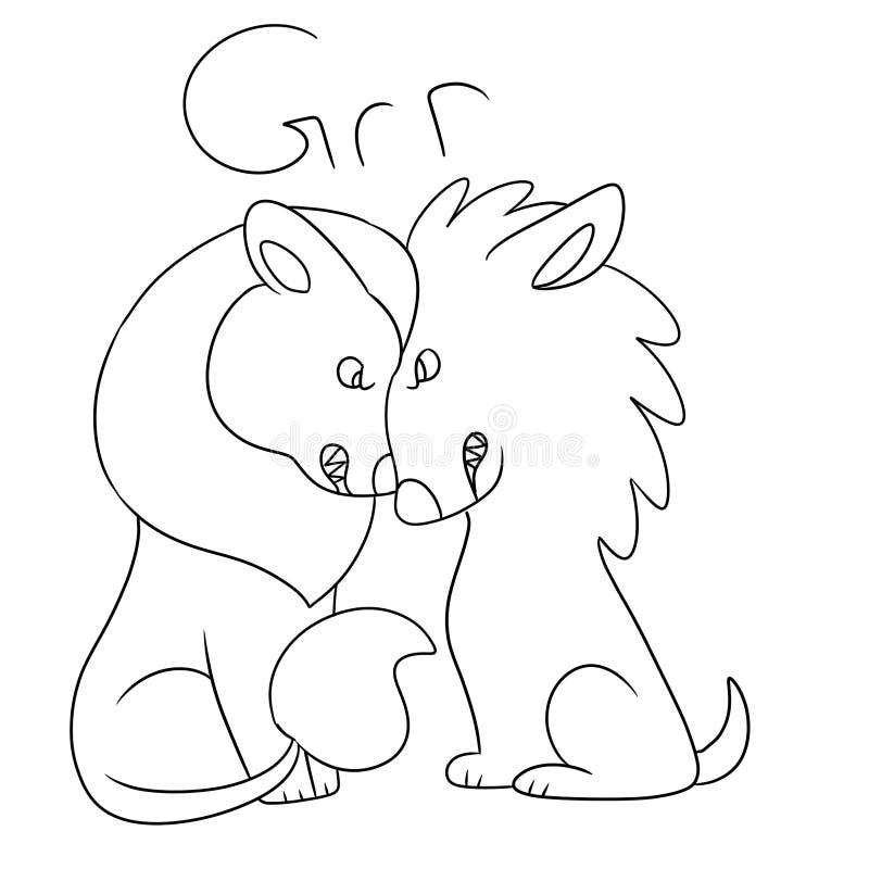 Illustration av två lösa katter stock illustrationer