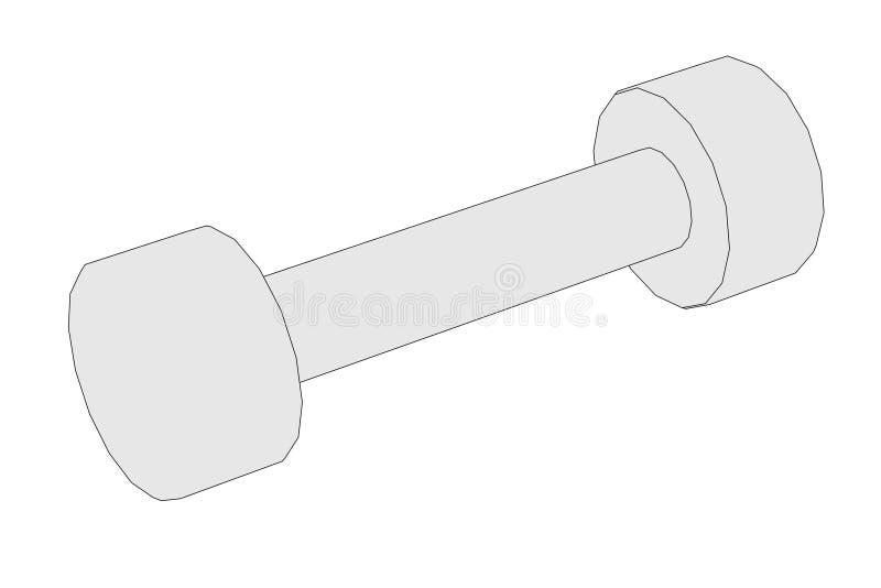 Illustration av vikter (kondition) vektor illustrationer