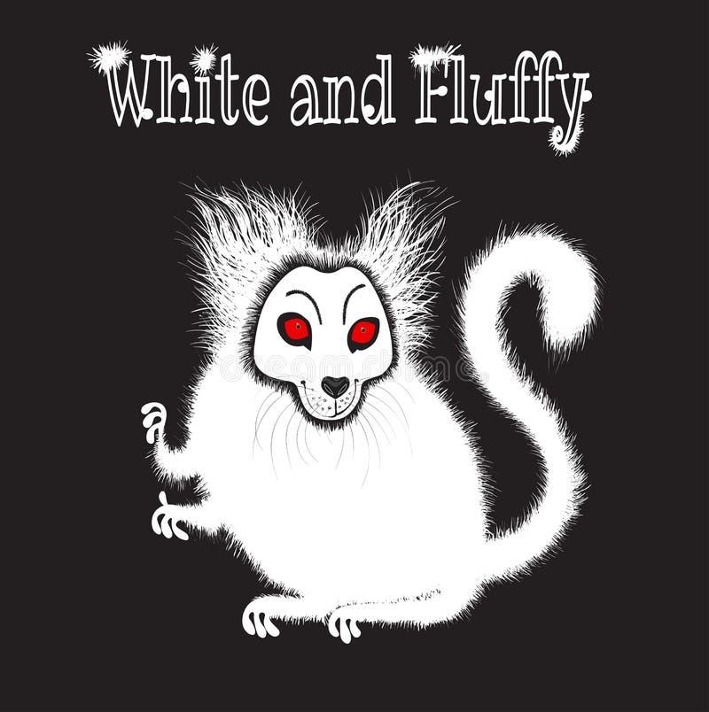 Illustration av vitt och fluffigt vektor illustrationer