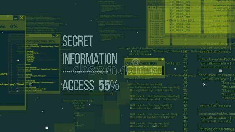 Illustration avancée de code de pirates informatiques illustration stock