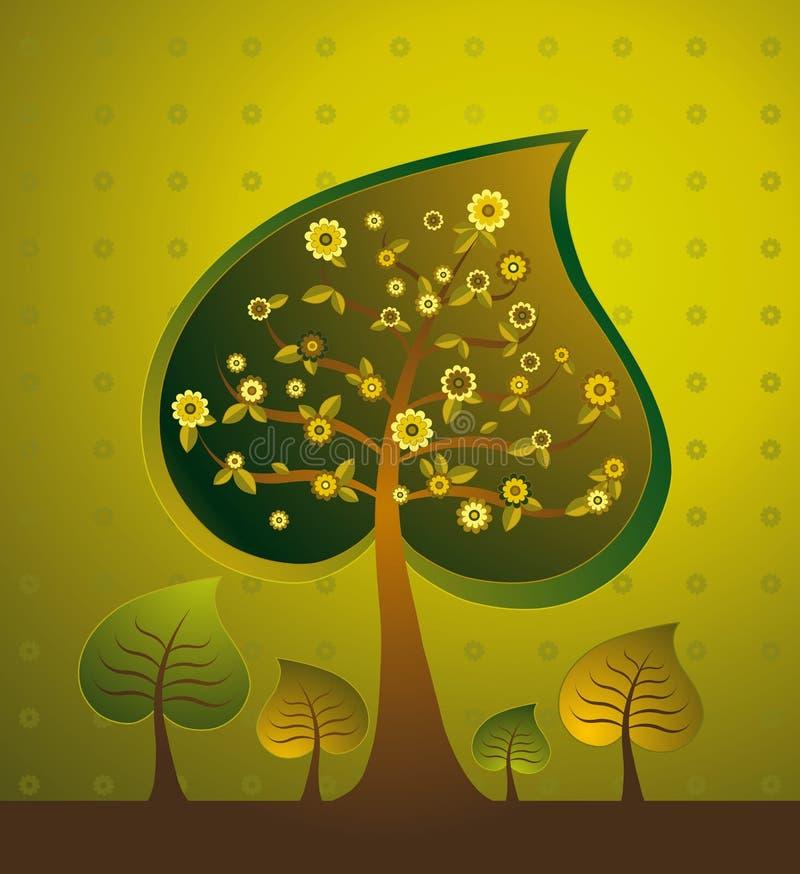 Illustration avec des arbres, vecteur illustration libre de droits