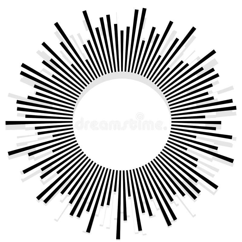 Illustration avec des rayons, faisceaux, radial - le rayonnement raye Abstrac illustration de vecteur