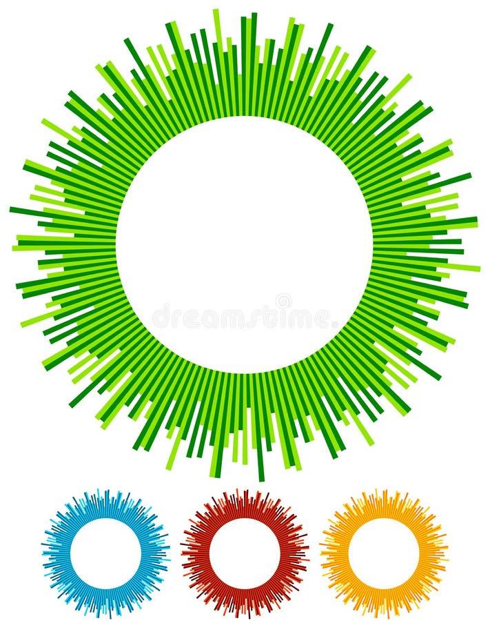 Illustration avec des rayons, faisceaux, radial - le rayonnement raye Abstrac illustration libre de droits