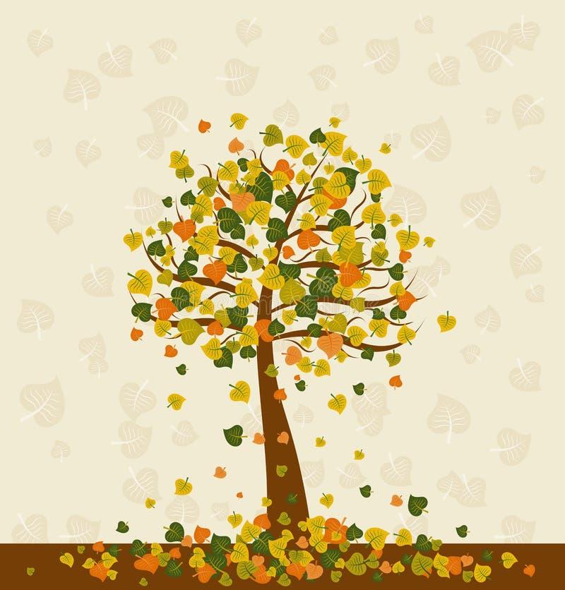 Illustration avec l'arbre, vecteur