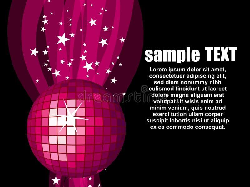 Illustration avec la disco rose ball.vector illustration de vecteur