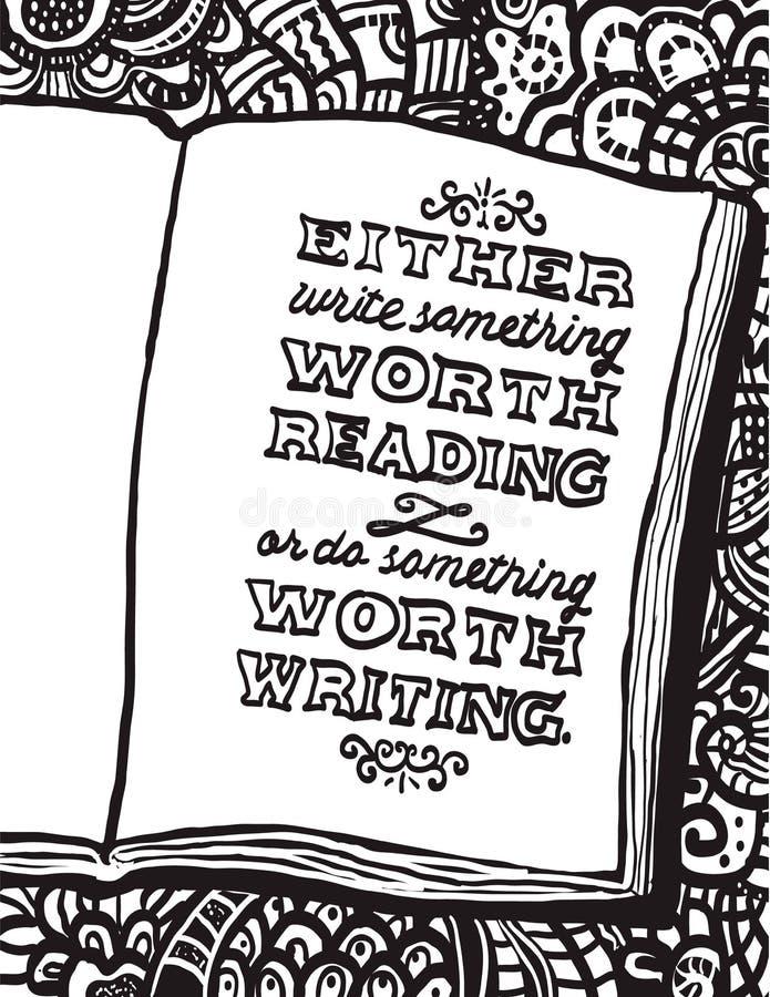 Illustration avec le carnet et la citation de Benjamin Franklin illustration libre de droits