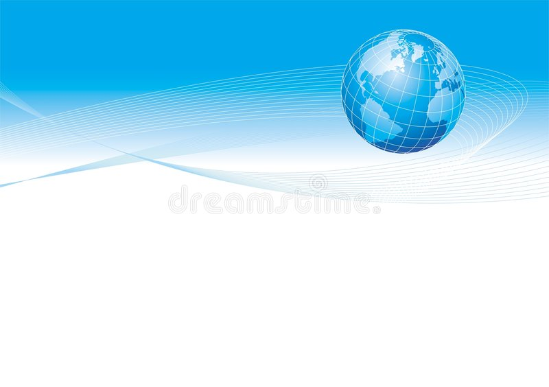 Illustration avec le globe illustration stock