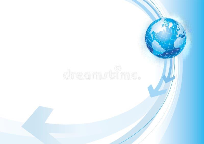 Illustration avec le globe illustration de vecteur