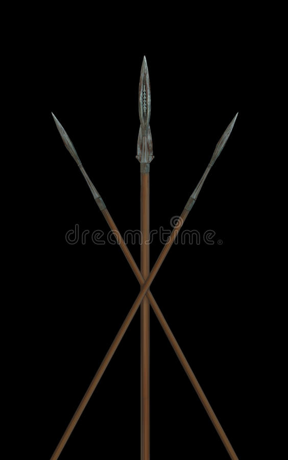 Illustration avec les lances romaines images stock