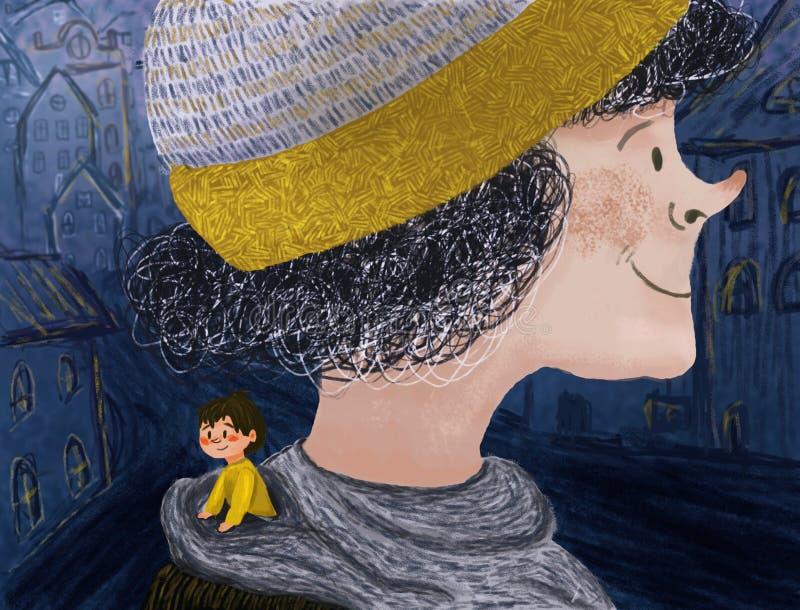 Illustration avec un petit gar?on illustration de vecteur