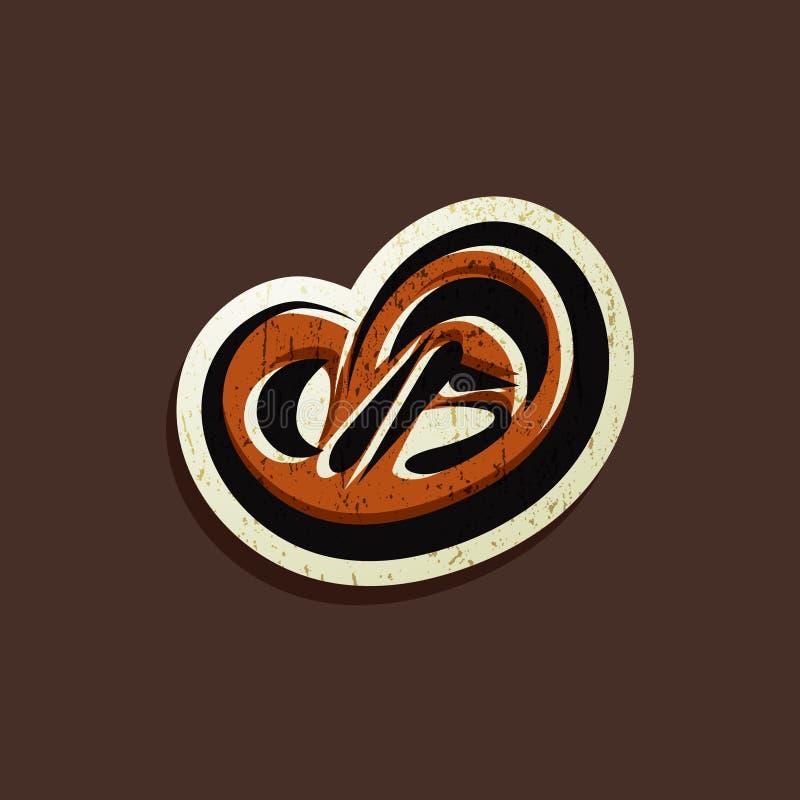 Illustration avec un signe de boulangerie illustration de vecteur