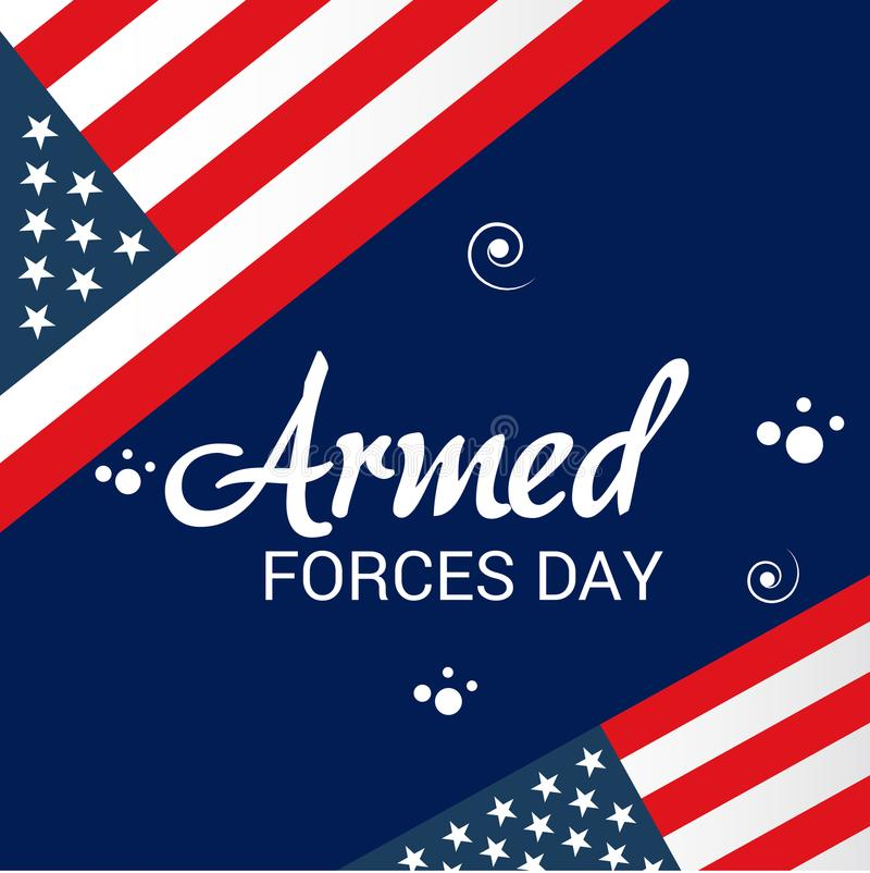 Armed forces day. Illustration of a Background for Armed forces day royalty free illustration