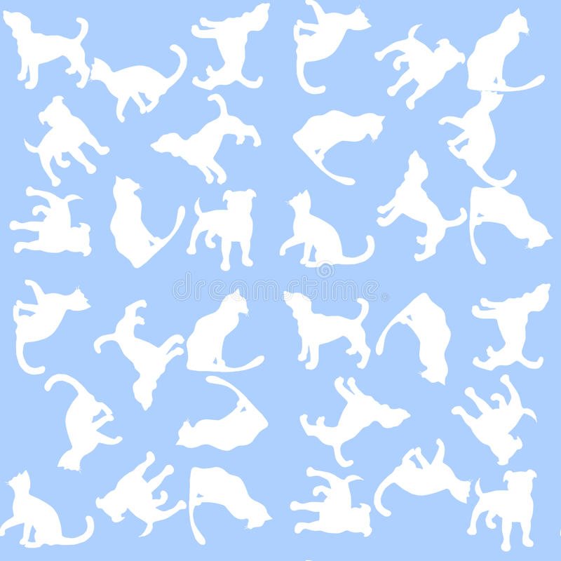 Illustration Background with dogs and cats. Seamless pattern. royalty free illustration