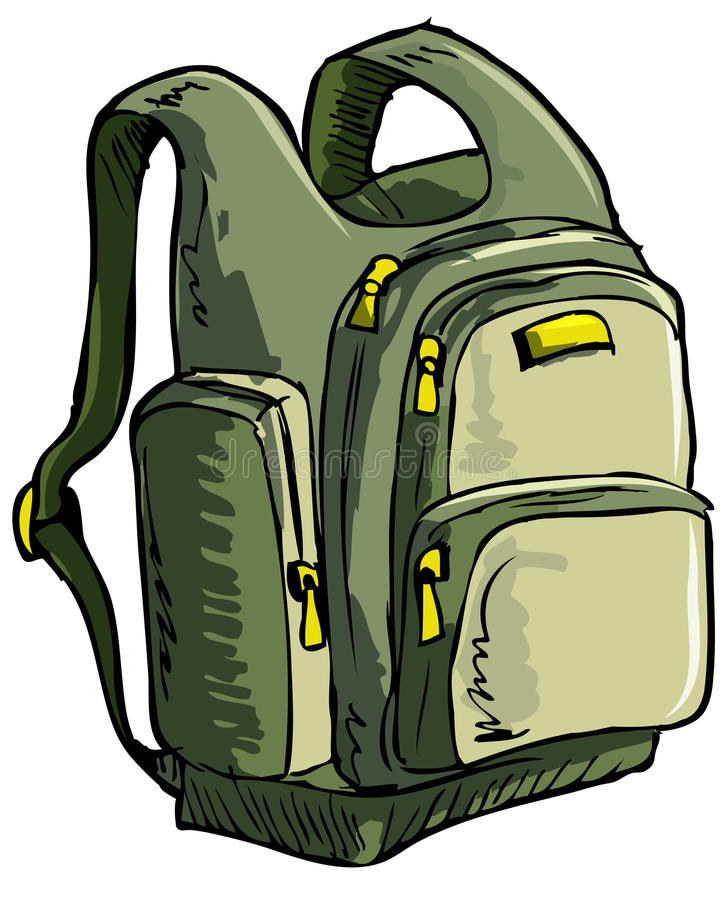 Illustration of a backpack stock illustration