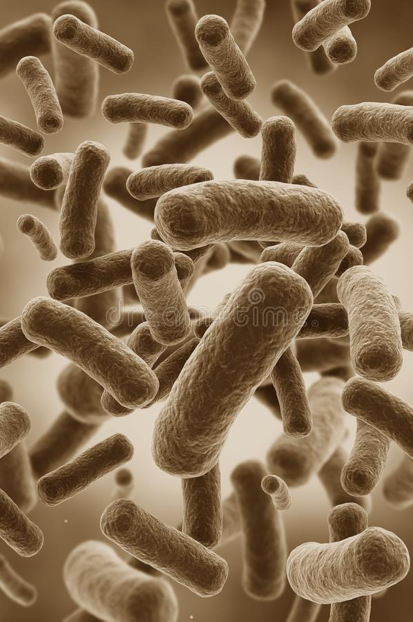 Illustration of bacteria cells royalty free stock photo
