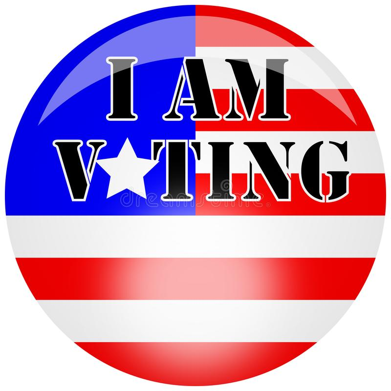 Illustration badge for the American presidental elections in 2020 supporting a party royalty free stock image