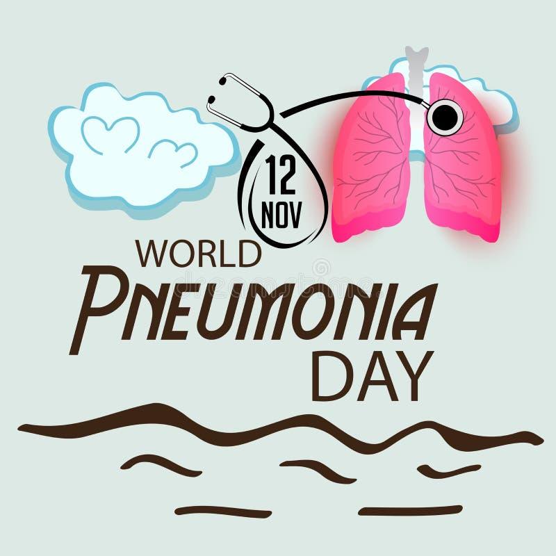 World Pneumonia Day. royalty free illustration