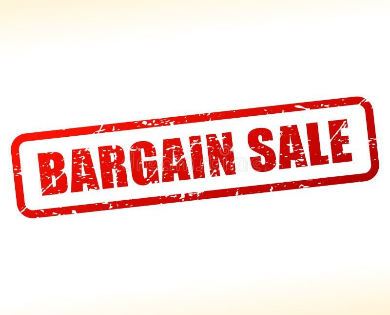 Bargain sale text buffered. Illustration of bargain sale text buffered on white background stock illustration