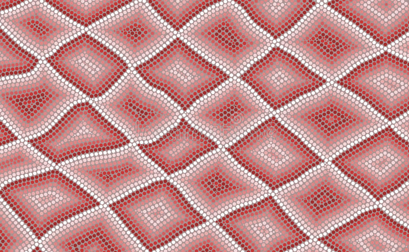 An illustration based on aboriginal style of dot painting depict. Ing snake skin stock illustration