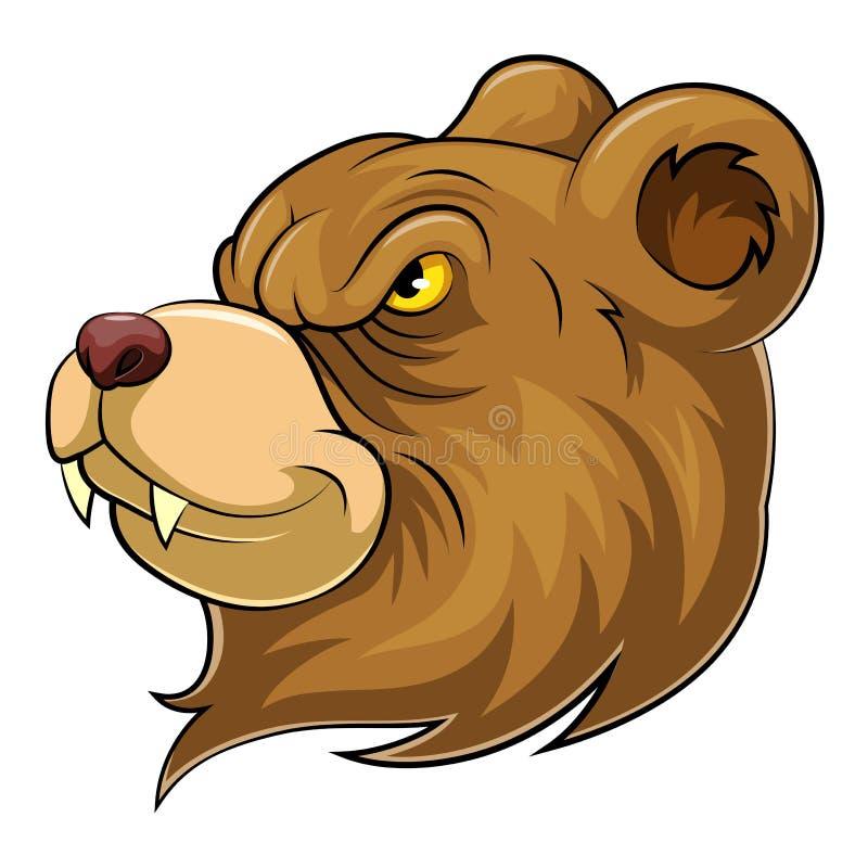 Bear head mascot royalty free illustration