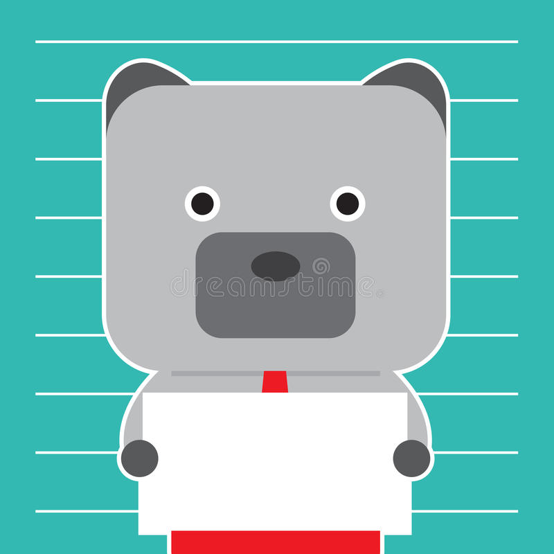 Illustration of bear symbol of stock market trend. royalty free illustration
