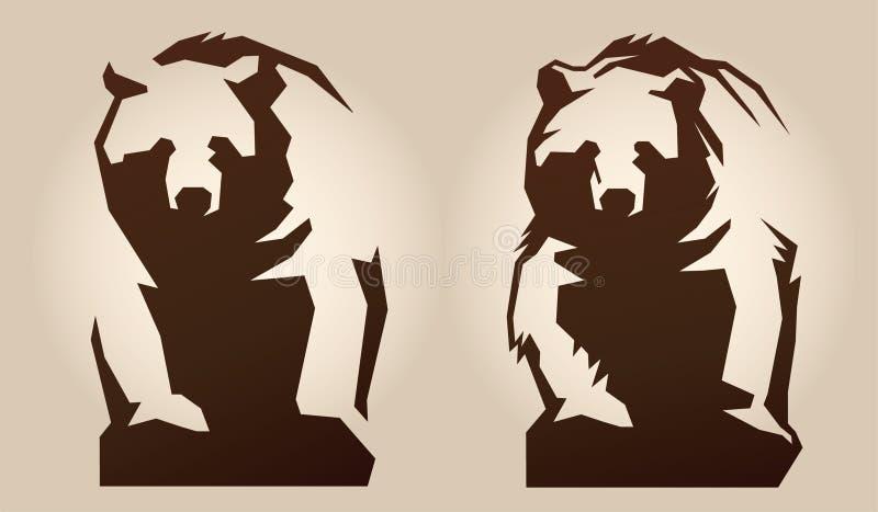 Illustration of a bear royalty free illustration