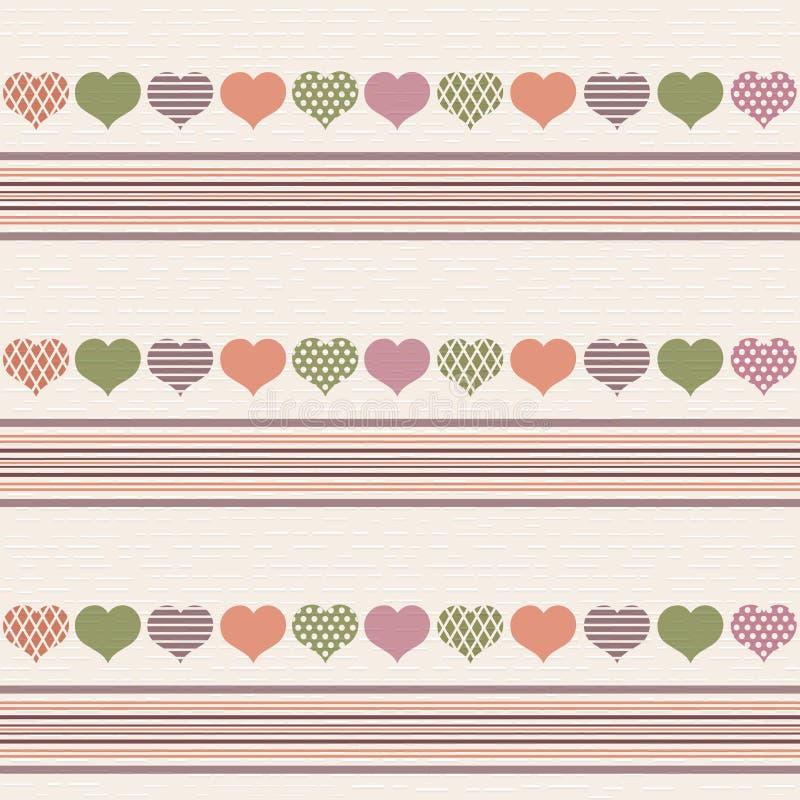 Illustration with beautiful hearts. vector illustration