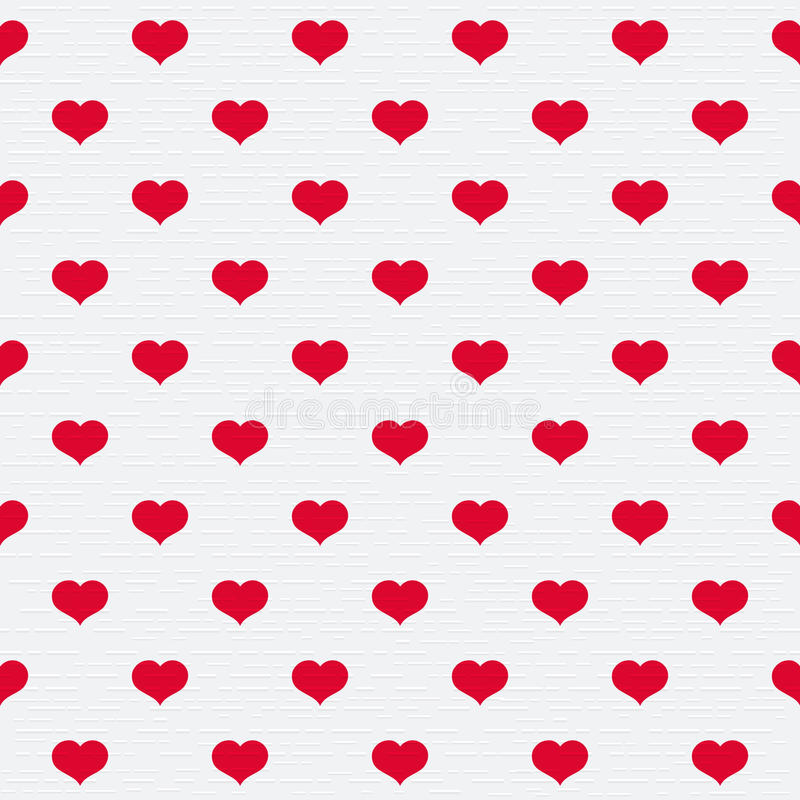 Illustration with beautiful red hearts. vector illustration