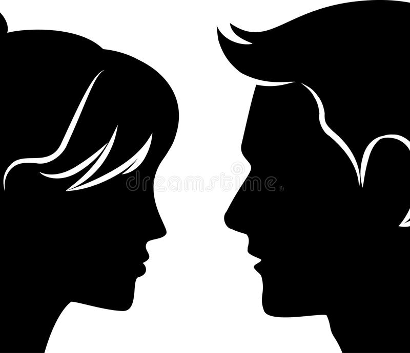 Illustration of beautiful silhouette royalty free illustration