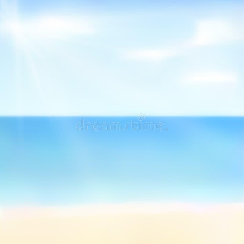 Illustration of beautiful summer background vector illustration
