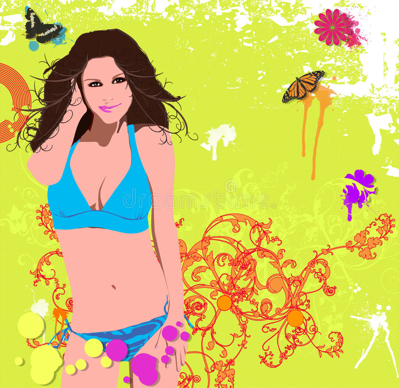 Illustration of a beautiful woman royalty free stock image