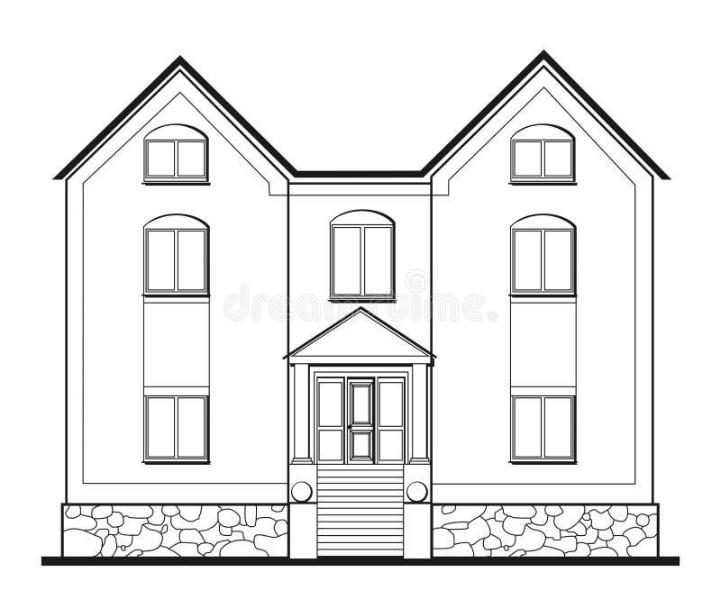 Illustration of big house royalty free illustration