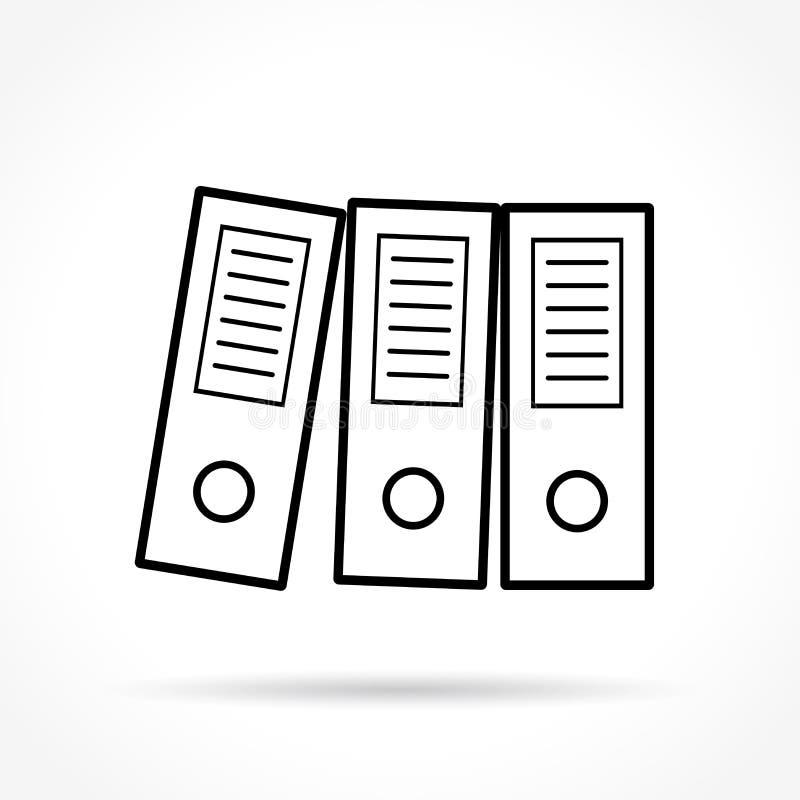 Binders thin line icon vector illustration